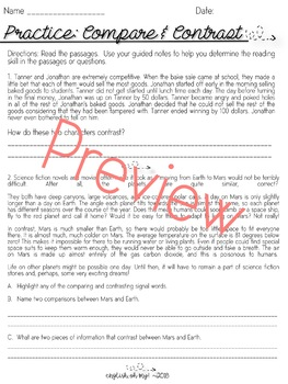 Compare & Contrast-Guided Notes, Worksheets