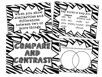 Reading Comp Hanging Poster {Compare & Contrast}