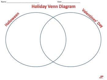 Graphic Organizer - Holidays on a Venn Diagram