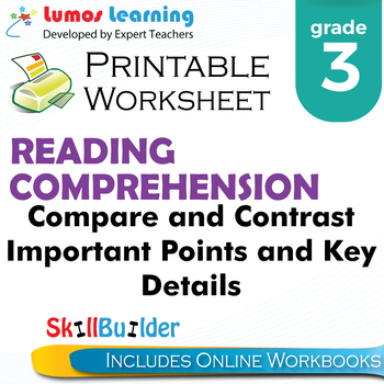 Compare & Contrast Important Points & Key Details Printabl