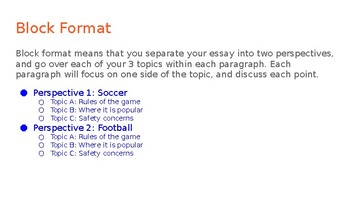Compare/Contrast Informational Essay Outline