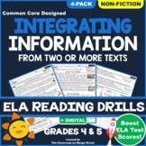 Compare & Contrast Informational Texts: ELA Reading Worksheets | GRADE 4 & 5