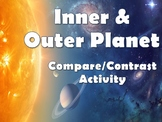 Compare & Contrast Inner Vs Outer Planets Activity Worksheets
