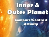 Compare & Contrast Inner Vs Outer Planets Activity for Google Slides