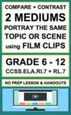 Compare Contrast Multiple Interpretations of Film: NO PREP Lesson & Handout:RL.7