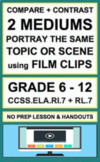 Compare Contrast Multiple Interpretations of Film: NO PREP Lesson & Handout:RL.7