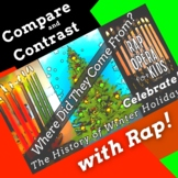 Compare & Contrast Holiday Reading Comprehension Passage & Questions with Song