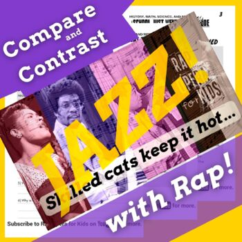 Compare & Contrast Nonfiction Passage, Jazz Musicians Reading Activities & Song