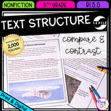 Compare & Contrast Nonfiction Text Structure RI.5.5 - Printable & Digital RI5.5