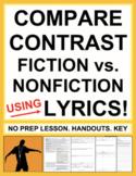 Compare Contrast Nonfiction vs. Fiction using Music Lyrics