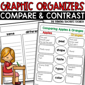 Compare & Contrast Organizer RL.2.9, RL.3.9, RL.4.9 (and more) FREEBIE!