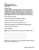 Compare Contrast Outline Guide for Literature Essay