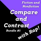 Compare & Contrast Nonfiction Passages and Fiction Passage Bundle with Songs