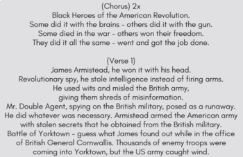 Compare & Contrast Nonfiction Passage: African Americans & the Revolutionary War
