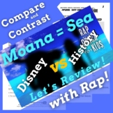 Compare & Contrast Fiction Passage, Moana Movie Worksheet Activities & Rap Song