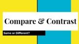 Compare & Contrast Pear Deck Google Slides Show Classroom