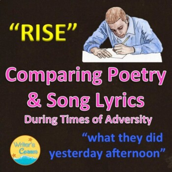 """Compare & Contrast """"what they did yesterday afternoon"""" & """"Rise"""", Sub Plan"""
