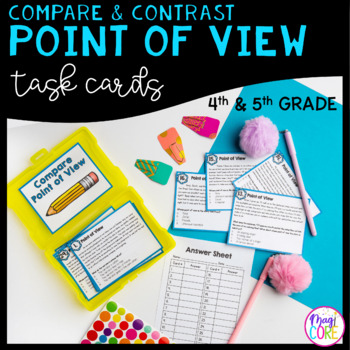 Compare & Contrast Point of View Task Cards - 4th & 5th Grade - RL.4.6 & RL.5.6