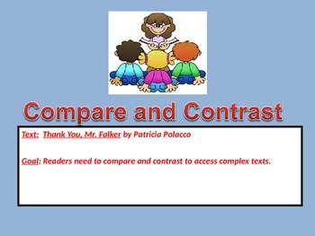 Compare & Contrast PowerPoint Using Thank You, Mr. Falker