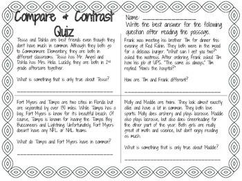 Compare & Contrast Quiz