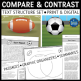 Compare and Contrast Text Structure Reading Comprehension