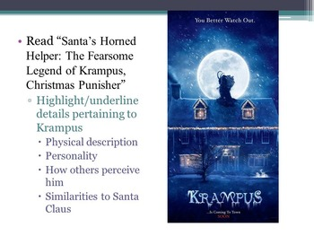 Compare/Contrast Santa Claus and Krampus: Expository Writing