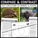 Compare and Contrast Text Structure Reading Comprehension Passages