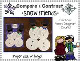 Compare & Contrast Snow Friends {Venn Diagram Craft}