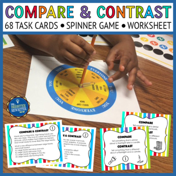 Compare Contrast Task Cards and Game