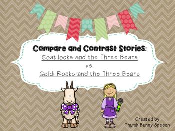 Compare/Contrast Stories Freebie: Goatilocks and Goldi Rocks