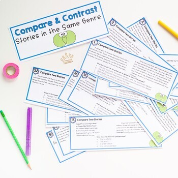 Compare & Contrast Stories in the same Genre Task Cards - 5th Grade - RL.5.9