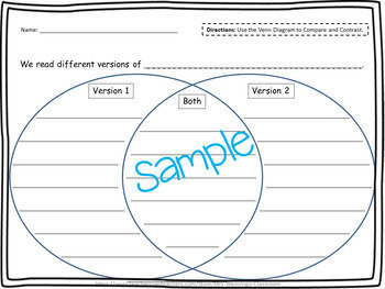 Compare & Contrast Templates & Graphic Organizers! by Mrs Wenning\'s ...