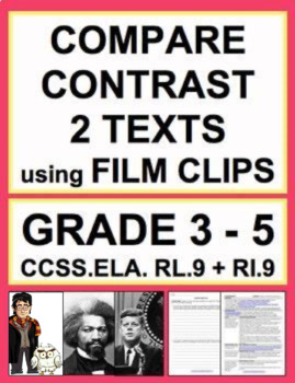 Compare & Contrast Texts Lesson Plan & Activities using FILM: ELA.RL.9 & RI.9