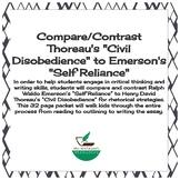 "Compare/Contrast Thoreau's ""Civil Disobedience"" to Emerson's ""Self Reliance"""