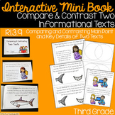 Compare & Contrast Two Informational Texts Interactive Mini Book {RI.3.9}