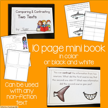 Compare & Contrast Two Informational Texts Interactive Mini Book {RI.3.9}