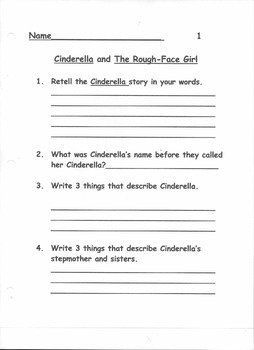 Compare Contrast Cinderella and Rough Face Girl Stories