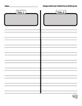 Compare & Contrast Two Texts Graphic Organizer
