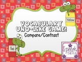 Compare Contrast UNO-Like Card Game FREEBIE