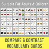 Compare & Contrast Vocabulary Cards - For Adults or Children