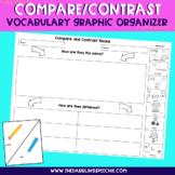 Compare & Contrast Vocabulary Graphic Organizer - FREE