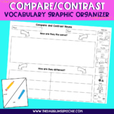 Compare & Contrast Vocabulary Graphic Organizer - FREE