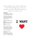 Compare & Contrast With Four Diverse Sources: Piercy poem, Oprah, Auster, VW car