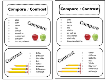 Compare & Contrast Worksheet and Interactive Notebook
