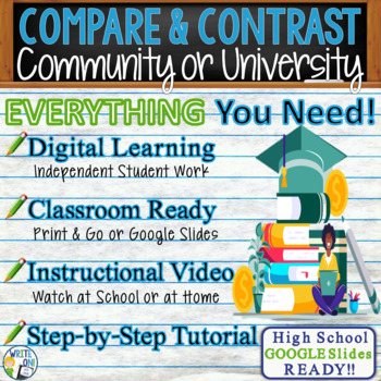 compare and contrast essay writing prompt   community college vs  compare and contrast essay writing prompt   community college vs university