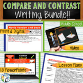 Compare / Contrast Writing Lessons Prompts with Digital Resources - BUNDLE!!!!
