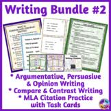 Compare & Contrast Writing, Opinion & Persuasive Writing, MLA Citations BUNDLE