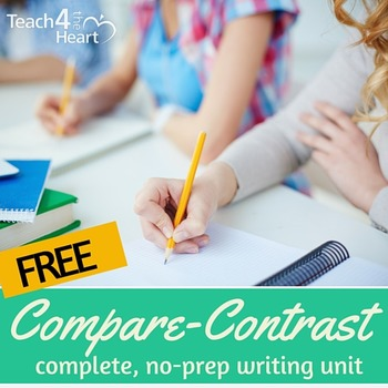 Compare / Contrast Writing Unit for middle school (editabl