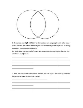 Compare & Contrast Writing for Upper Elementary Students