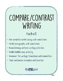 Compare Contrast Writing with model essay